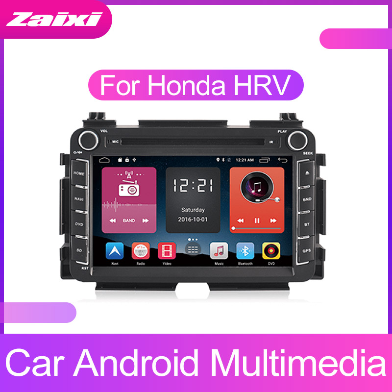 ZaiXi Touch screen Android car Audio for Honda HR V HRV 2014~2019 support GPS navi Ipod BT radio mic Media Navigation system