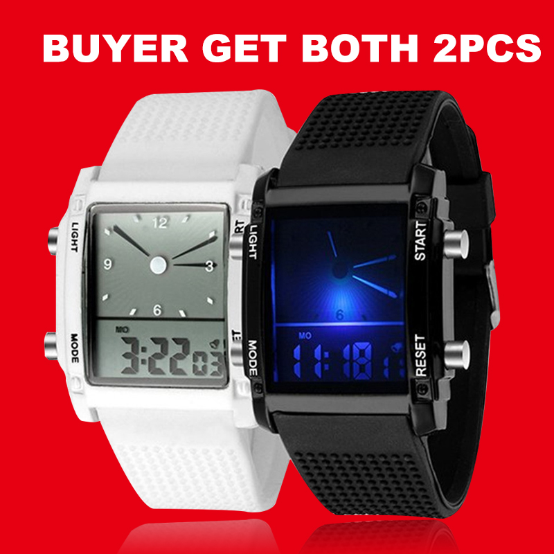 Lovers Watces Set Led Digital Men Women Watches 2pcs Sports Casual Wristwatch Silicone Masculino Feminino Relogio Saati Clock