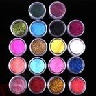 18 Colors Shiny Nail Glitter Dust Powder For UV GEL Nail Art