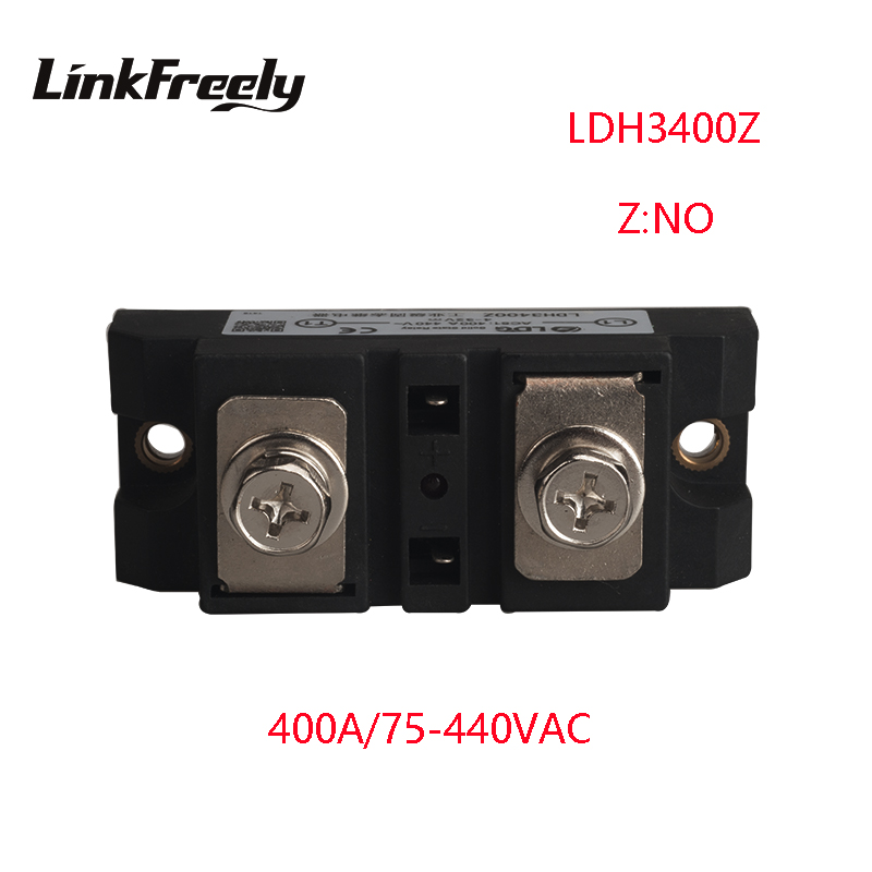 LDH3400Z 2pcs 400A High Power 1 Phase Solid State Relay Output 75-480VAC Input 5V 12V 24V 32V DC SSR Voltage Relay Board Switch 400a input 70 280vac output 24 480vac industrial ssr single phase solid state relay ssr 400a