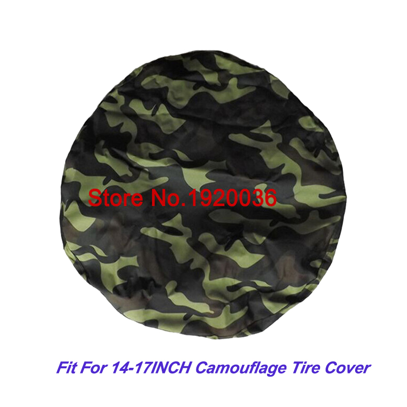 "Car Stylle Off-road Car HIGH QUALITY Camouflage Color PU Spare Tire Cover Custom 14 ""15"" 16 ""17"" PVC Spare Wheel Cover"