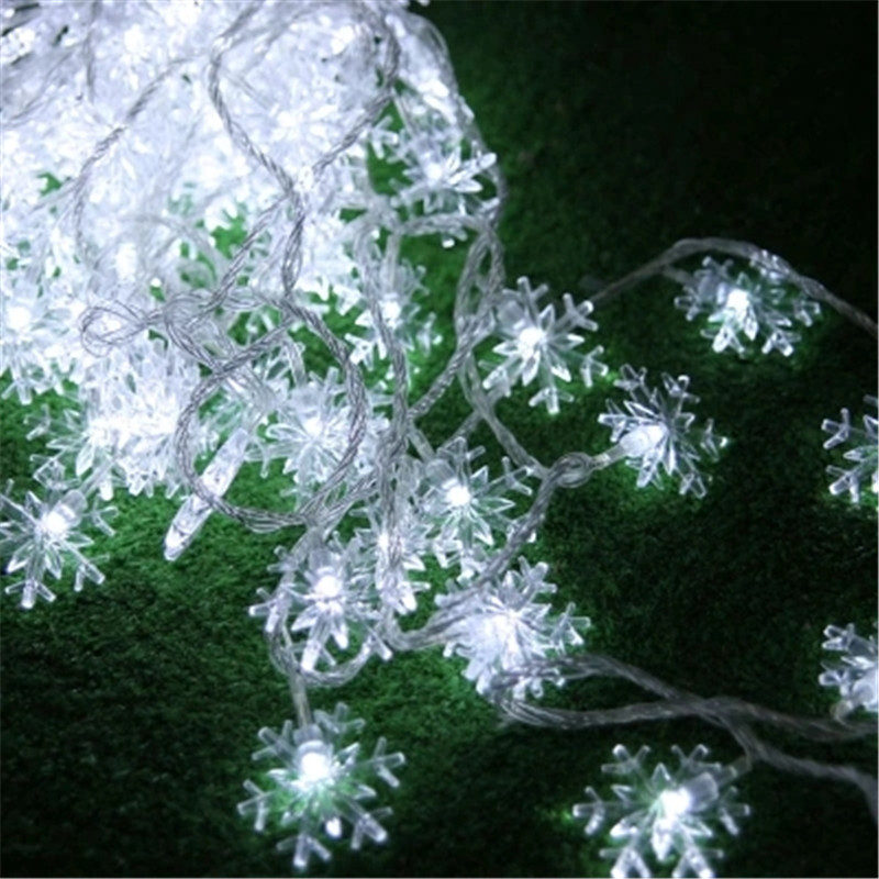Fairy 10m LED Snowflake String Light Wedding Christmas Tree Holiday Garland Outdoor Garden Home Lamp Flashing Chandelier Decor