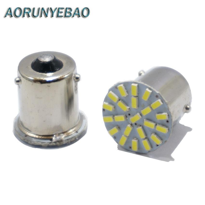 AOYUNYEBAO 150pcs X BA15S P21W 1156 BAY15D 1157 22 LED SMD Car Auto Tail Side Indicator
