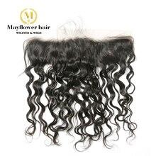 """Ухо к уху 13X"""" кружева фронтальной девственные волосы вода волна полностью связанный вручную с детскими волосами свободный расставание натуральный цвет может быть красителем"""