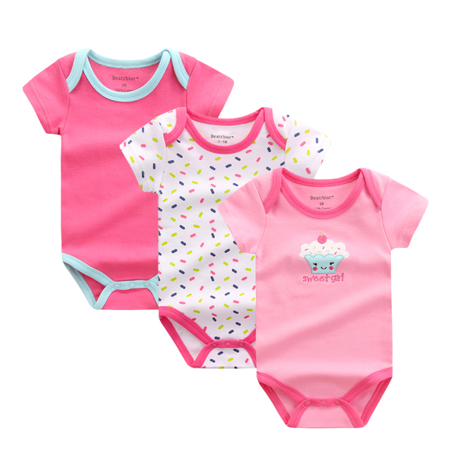 4934be7278e4 2018 Baby Girl Clothes Printed New Design Cotton Baby Rompers Short ...