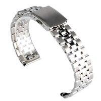 YISUYA Hohe Qualität 16mm/18mm/20mm Solide Link Silber/Goldene Edelstahl Armbanduhr Band Bügel Männer Frauen