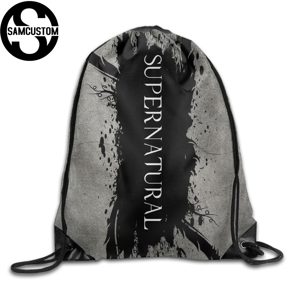 Samcustom Supernatural 3d Print Shoulders Bag Fabric Backpack Men And Women Port Drawstring Travel Shoes Dust Storage Bags