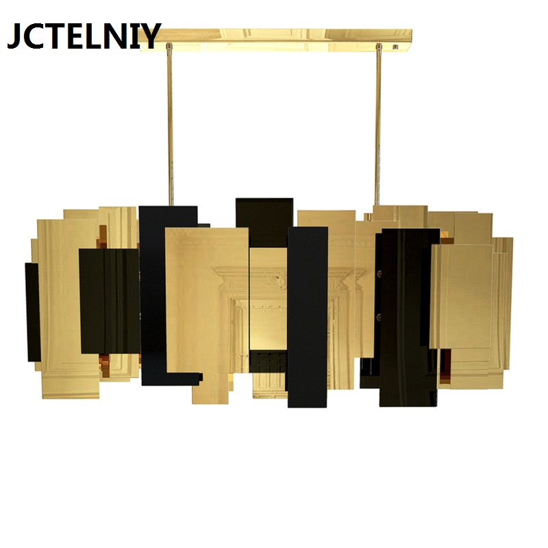 Luxury chandelier gold stitching fashion <font><b>lighting</b></font> E14 for the restaurant living room decorative lights