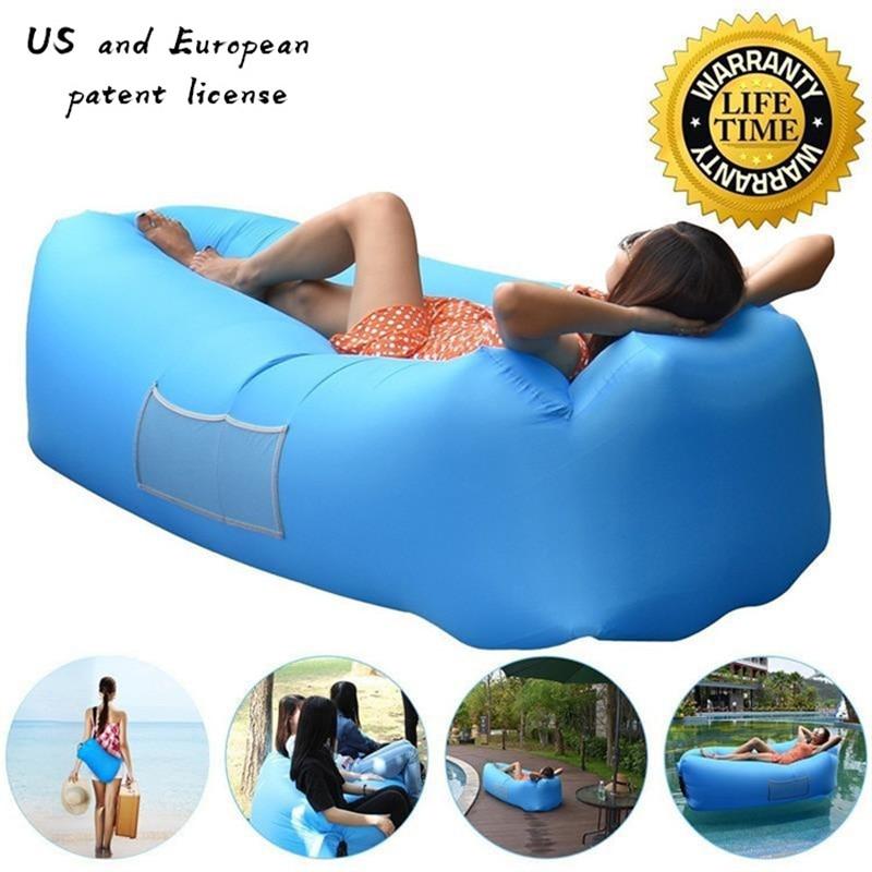 Outdoor Inflatable Air Sofa Holiday Seaside Beach Lady Bone Sofa Wild Sleeping Bag Outdoor Seating Garden Furniture