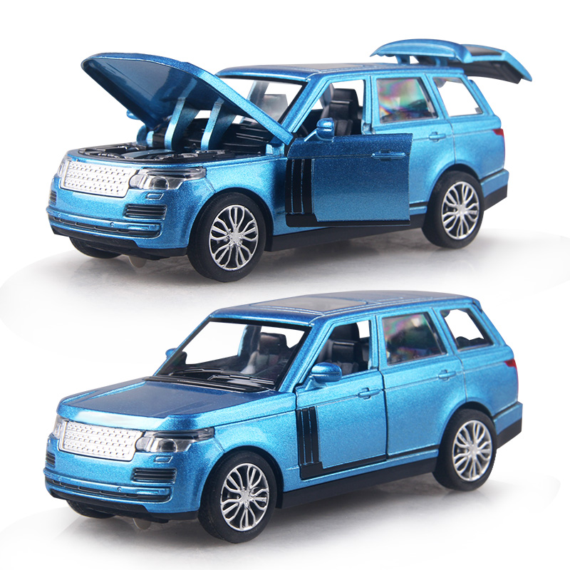 15CM Alloy Cars 1:32 LAND RR SUV car Pull Back Diecast Model Toy with light flashing simulation sound Gift toy For Boys Kids