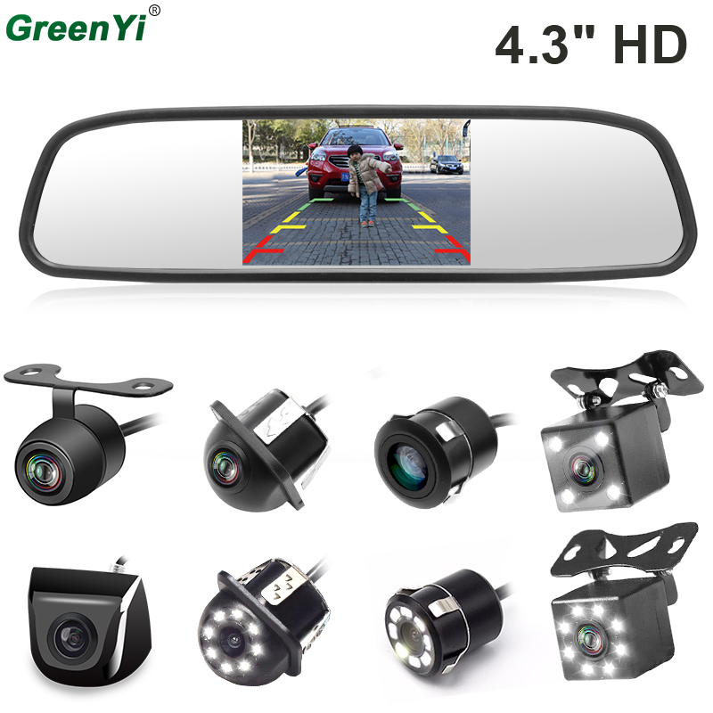 Greenyi 4 3 Inch Tft Lcd Car Rear View Mirror Monitor For