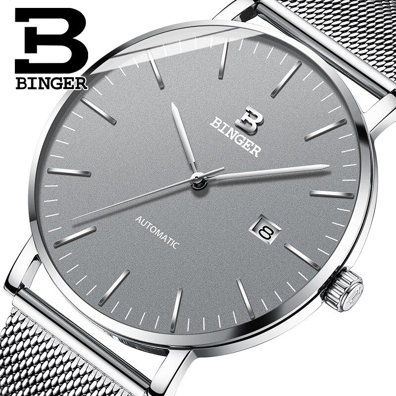 Switzerland BINGER Mens Watches Top Brand Luxury Automatic Mechanical Men Watch Sapphire Waterproof Watch Men Clock Male reloj|Mechanical Watches| |  - title=