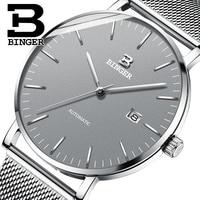 Switzerland BINGER Mens Watches Top Brand Luxury Automatic Mechanical Men Watch Sapphire Waterproof Watch Men Clock Male reloj