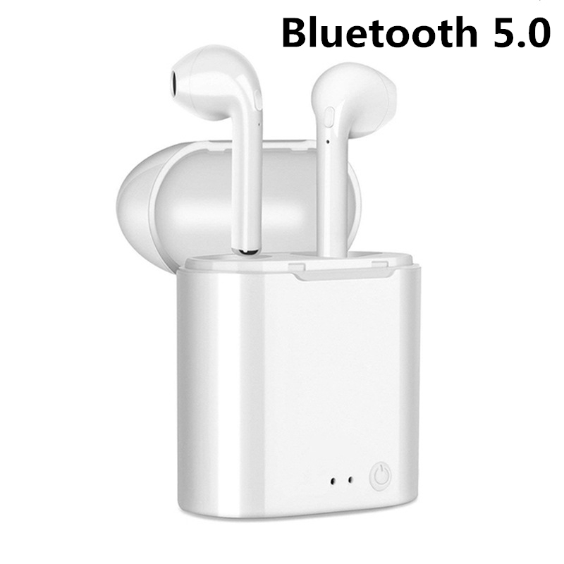 Fashion Wireless Bluetooth Earphones i7s <font><b>TWS</b></font> Earbuds Headset With Mic For iphone Samsung Xiaomi <font><b>5</b></font> 6 7 8 Redmi Note For Huawei LG image
