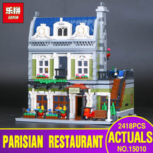 DHL Lepin 15010 Expert City Street Parisian Restaurant Model Building Kits Blocks Toy Compatible 10243