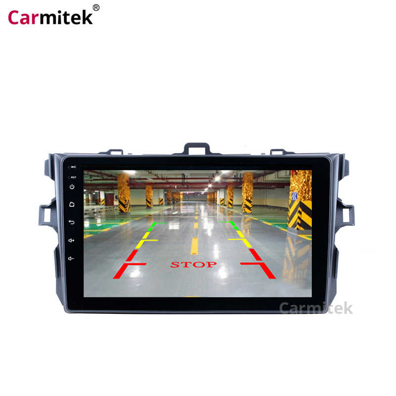 سيارة وسط الوسائط المتعددة نظام ملاحة GPS رئيس وحدة الراديو شاشة لمس اندرويد 2 الدين مشغل ديفيدي لتويوتا كورولا 2007-2013