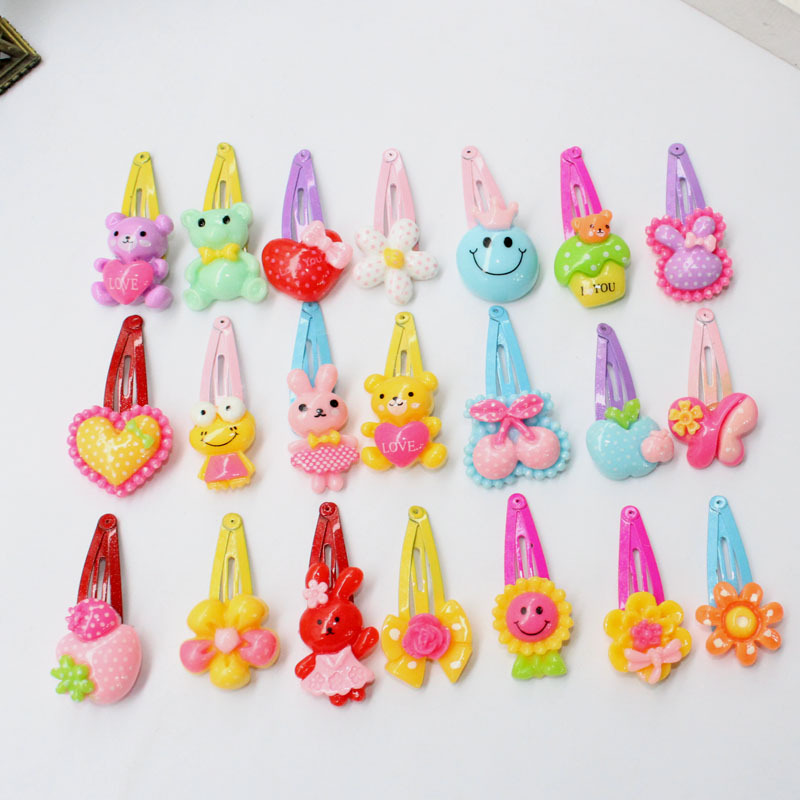 Small BB Hairpin Cartoon Flower Candy Color Hair Clips Girls' Hair Ornaments Kids BB Hairpin цена и фото