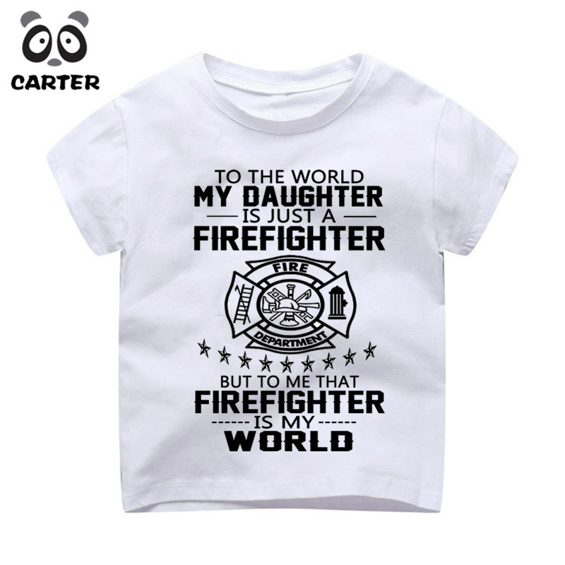 8e881efd0 Children Fireman Gift Firefighter Design Tops Tees Boys/Girls Casual T  Shirt Kids Cool White T Shirt Enfant Camiseta-in T-Shirts from Mother & Kids  on ...