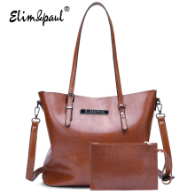 ELIM&PAUL Designer Handbags High Qulilty Fashion Women Handbag Top-handle Bags Vintage Tote Bag Women Crossbody Bags Ladies 7007