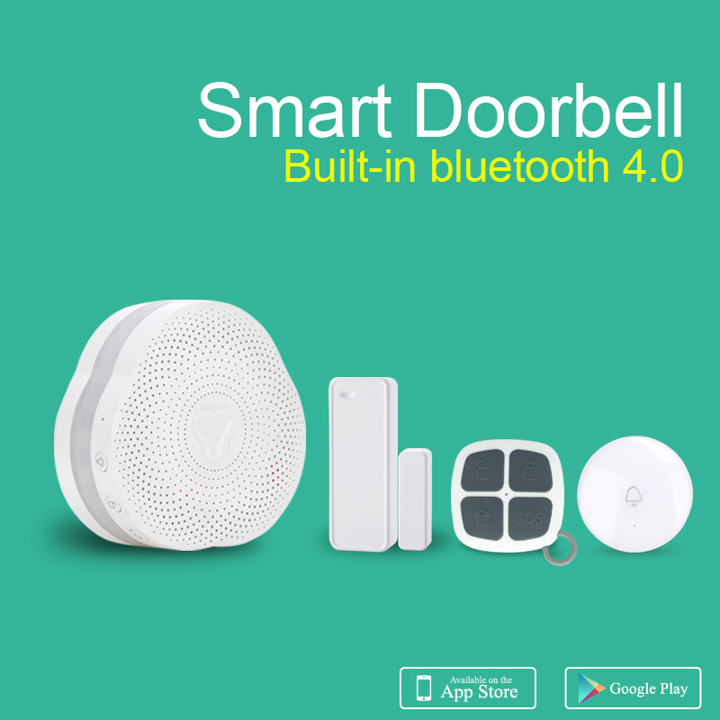 Newest Wireless Smart Bluetooth Doorbell IOS Android APP Control Wireless Alarm System with 10 Kinds of Music Home Shop Doorbell
