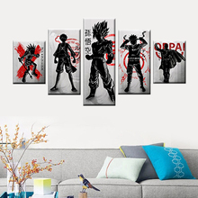 One Piece Dragon Ball Wukong Naruto Road Flying Wall Art Living Room Decoration Painting 5 Cartoon Character Canvas