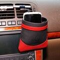 Genuine Leather Car Air Vent Mount Mobile Phone Holder Pocket Organizador Bolsa Bolsa de Almacenamiento de Residuos Para Beber Taza de Teclas de Entradas