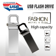 цена на New usb flash drive 64gb free USBConverter metal USB 3.0 silver pendrive 8GB 16GB 32GB u disk pen drive 128gb flash stick key
