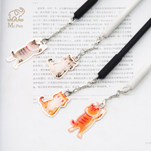 4PCS/Set Lovely Kawaii Cat Pendent Gel Pen 0.5mm Cartoon Pens for Writing Office School Supplies Stationery