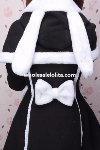 Осень/Зима Шерсть Lovely Rabbit Ears Лолита Пальто для Девочек