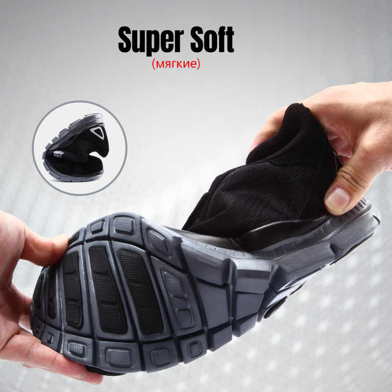 LARNMERN çelik burunlu güvenlik ayakkabıları bayan iş güvenliği ayakkabıları nefes hafif iş çizmeleri kaymaz kauçuk taban