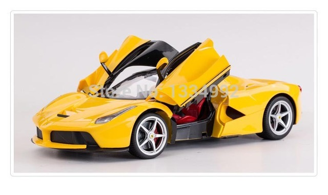 Yellow Remote Control Cars As Children Birthday Christmas Gift