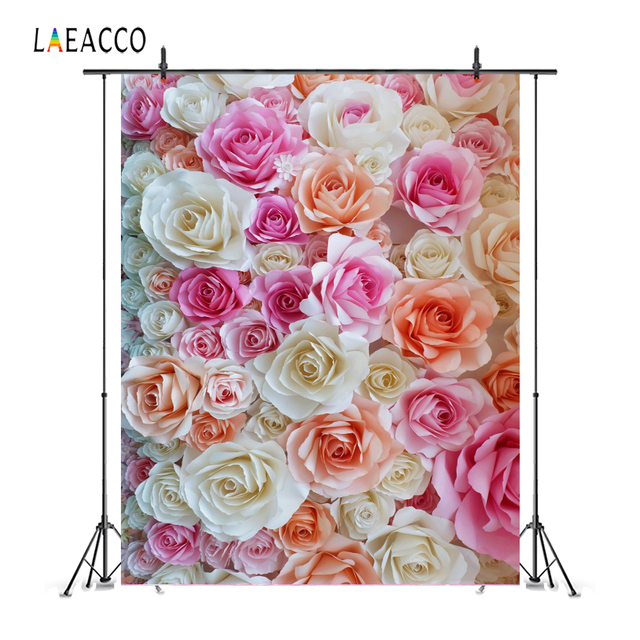 Laeacco Flowers Wedding Baby Newborn Photography Backgrounds Customized Photographic Backdrops For Photo Studio