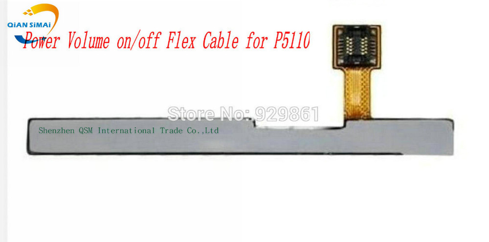 1PCS New 100% Original Power On/Off + Volume Up/Down Button Flex Cable For Samsung Galaxy Tab 2 10.1 P5100 P5110