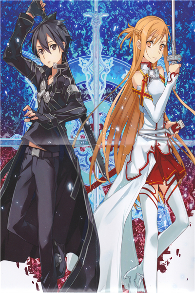 Custom Canvas Art Sword Art Poster Sword Art Online Game Wall Stickers SAO Mural Anime Wallpaper Christmas Bedroom Decor #364#