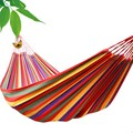 2016 HOT Portable Outdoor Garden Hammock Hang BED Travel Camping Swing Canvas Stripe NVIE