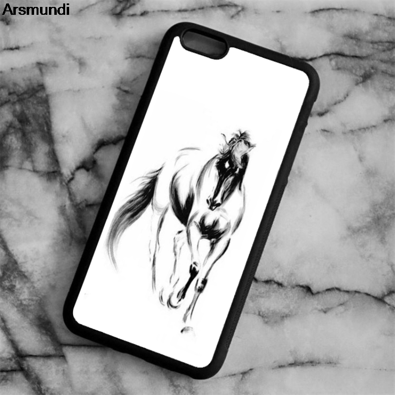 Arsmundi font b 2018 b font NEW runing horse Phone Cases for font b iPhone b