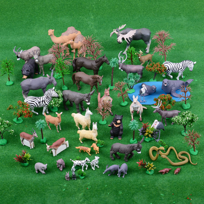 pvc figure Noah's Ark Simulation Animal Model Animal Couple 28pairs/set pvc figure animal simulation model children toy zoo animalsbacking large chimpanzee monkey baboon diamond gift 6monkeys 2trees
