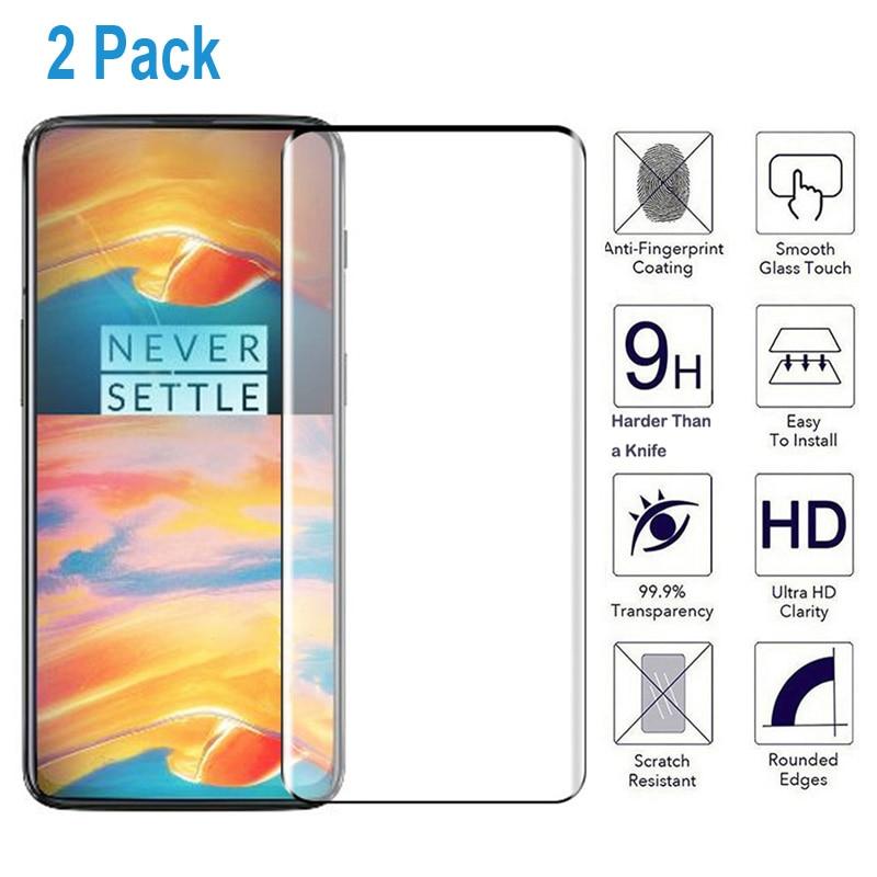 2 Pcs/lot 3D couverture complète en verre trempé pour OnePlus 7 Pro Film protecteur d'écran en verre pour One Plus 7 Pro 6.67 pouces verre trempé