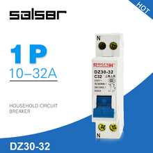 Mini Circuit breaker DPN DZ30-32 1P+N 10A 16A 20A 25A 32A 230V 50/60HZ MCB Double In Double Out