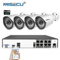 MISECU H 265 H 264 48V 8 Channel POE IEE802 3af 4 0MP 4K Surveillance POE