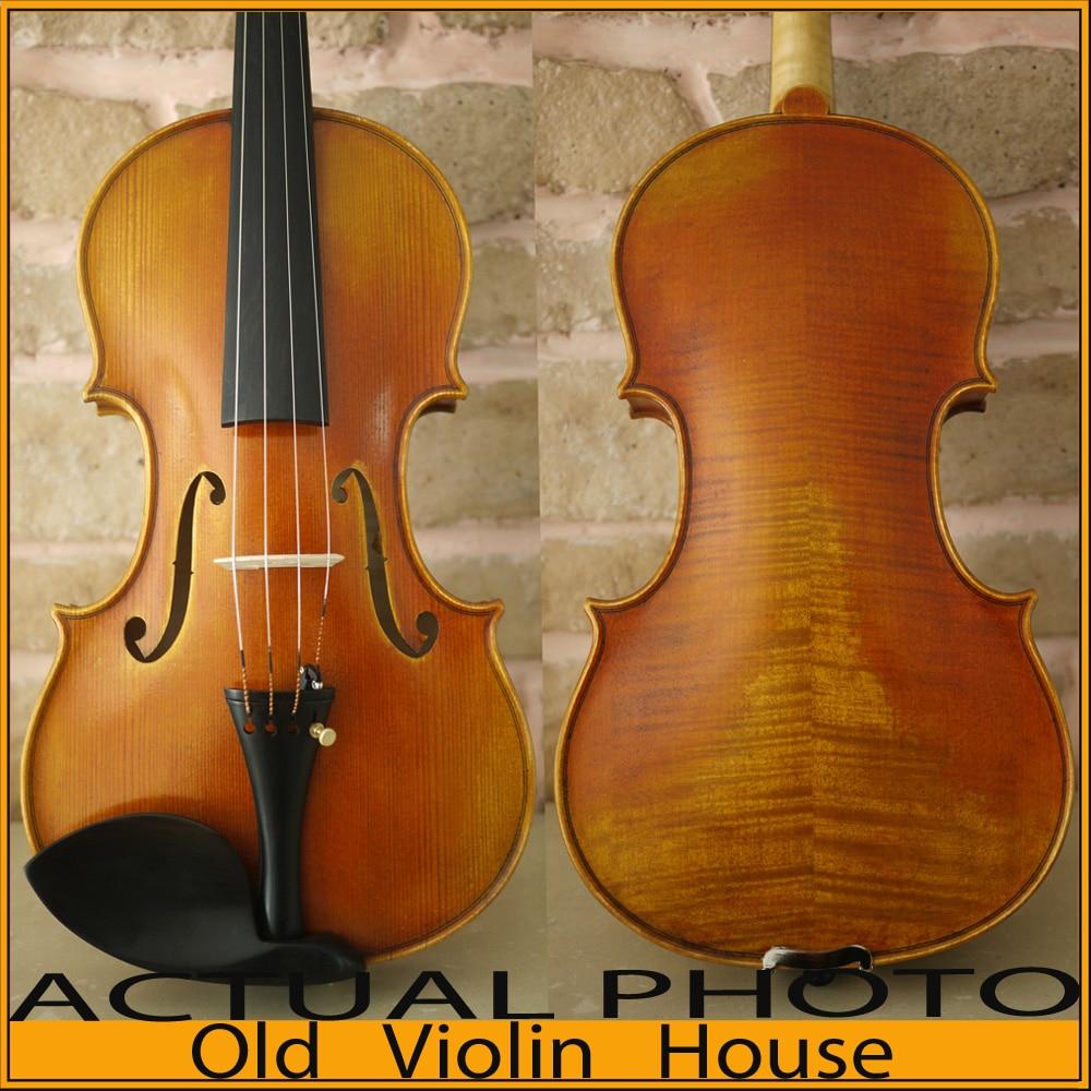 100% Handmade Stradivarius Cremonese 1715  Violin Model, Antique varnish,Free violin case , bow and rosin, No.2454 antique violin model stradivarius 1715 model 100