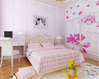 Beibehang Papel De Parede Blue Cartoon Nonwovens 3d Wallpaper Green Kids Room Stereo Bedroom Boys Girl