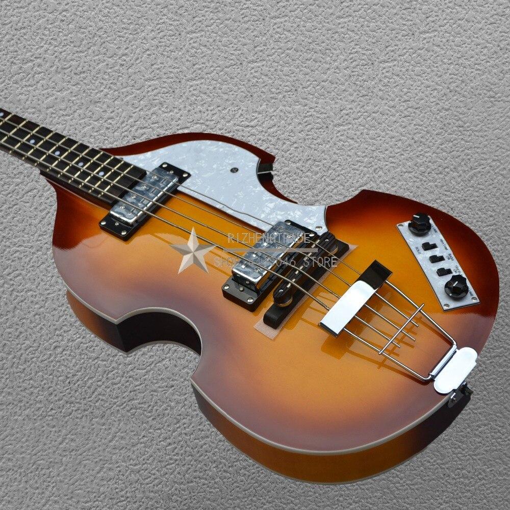 2018 vente directe limitée 22 Chibson bricolage Kit de guitare quatre cordes tabac Sunburst guitares électriques Rickenback couleur classique