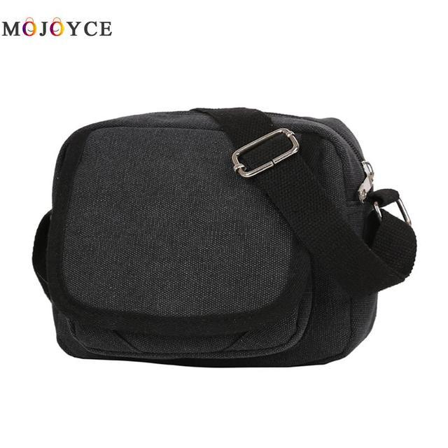 6fd0a54a Bolso bandolera de lona Vintage duradero para hombre, bolso de hombro con  cremallera Casual para