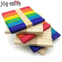 Buy 50pcs/lot Colorful Wooden Ice Cream Stick Popsic online