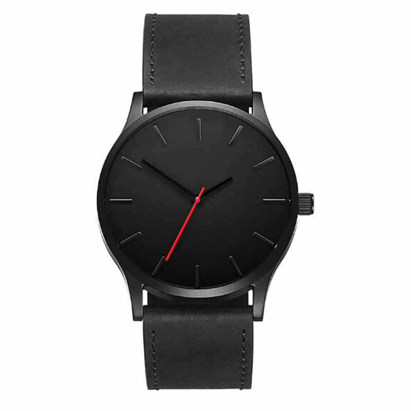 Top Brand Man Watches Quartz Wristwatches New Fashion Business Quartz Watches Large Dial Watch For Men's Matte Belt Wrist Watch