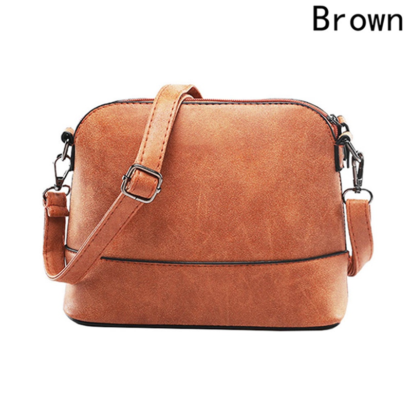 Small Bags Nubuck Leather Over The Shoulder Shell Bag New Fashion Women Purses Handbags Women`s Messenger Bag