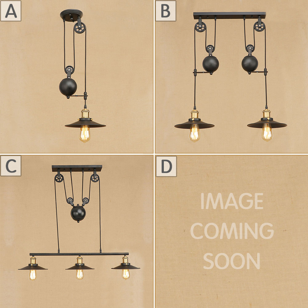 Loft Vintage Industrial Retro Pendant Lamp Edison Light E27 Holder Iron Restaurant Bar Counter Attic Bookstore Cage Lamp ...