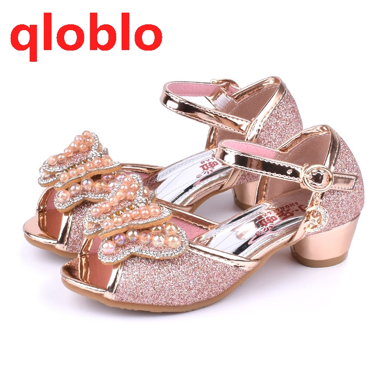be250bf883e qloblo 2018 summer sandals kids princess shoes children high heels girls  sandal children leather shoes-in Sandals from Mother   Kids on  Aliexpress.com ...