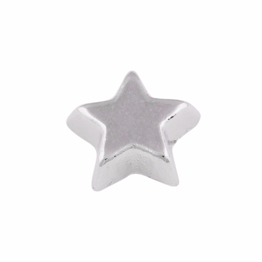 Free shipping floating charms SILVER star CHARM,hand bag charms